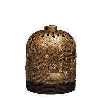 禅韵香炉香薰炉香席饰品礼盒纯黄铜雕刻沉香盘香铜吊顶
