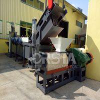 PA66尼龙渔网尼龙地毯回收设备,进的PA尼龙清洗回收制粒流程