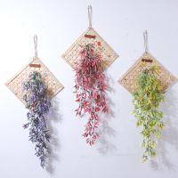 一件代发创意竹编墙壁装饰客厅卧室墙面挂件风铃植物门上墙上家居