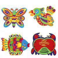 布艺层粘贴画 儿童不织布手工DIY制作材料包 幼儿园亲子创意
