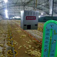 家禽养殖加热设备生产厂家 养猪厂车间冬季吊装暖风机