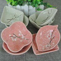 陶瓷餐具雪花瓷日式手绘釉下小碟子家用餐厅艺术味碟蘸酱碟调料碟