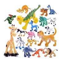 儿童蛋糕插件卡通动物恐龙模型 森林野生动物家禽侏罗纪恐龙袋装