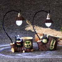 宫崎骏龙猫笔筒小夜灯 创意树脂工艺摆件微景观礼物精品百货批发