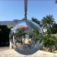 圣诞礼物天使水晶球高档汽车挂件后视镜圣诞挂饰车内饰品