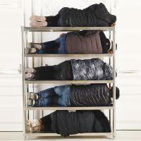 304 不锈钢厨房置物架烤箱微波炉架储物架落地5层收纳架阳台定做
