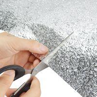 立体用品风格防油防水玻璃自粘贴纸铝箔贴纸自粘锡纸黑白耐高温