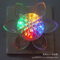 供应外贸 内销 六叶半球LED节能时尚小夜灯 彩色 单色可混装