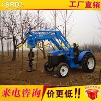 大型植树种树挖坑机拖拉机挖穴机四轮车带打坑机拖拉机打洞机
