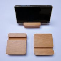 实木质手机平板榉木懒人支架底座木桌面装饰办公企业公司定制图案