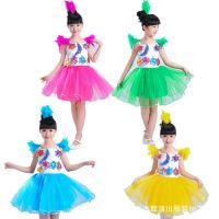儿童舞蹈服女童幼儿园星星蓬蓬舞蹈裙月亮演出表演服儿童合唱服装
