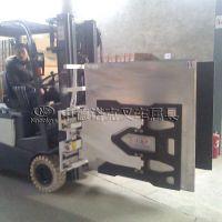 中德诺克叉车属具叉车大面夹用于物流仓储电子家电需用纸箱包装货物