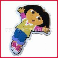 3D立体卡通美少女钥匙扣  PVC软胶钥匙配饰 创意小礼品批发
