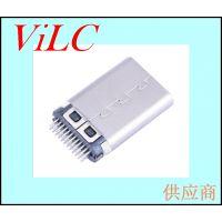 24p铆压-夹板TYPE C公头/不带板卡板USB 3.1公头 编带包装