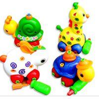 T1362可拆装多款动物玩具 拼装长颈鹿 乌龟婴幼儿早教益智玩具