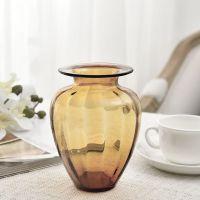 欧式迷你小浮雕玻璃花瓶彩色 透明手工花器创意水培台面花花容器