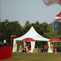 厂家提供可口可乐户外活动尖顶篷房 欧洲铝合金多种规格活动尖顶篷