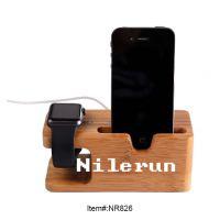 天然环保竹制iphone苹果手机座apple watch苹果手表充电底座