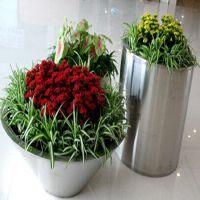 佛山林方不锈钢专业加工:不锈钢花盆,适用于:酒店、别墅、样板房、展厅、商场