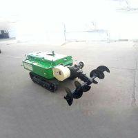 履带果园开沟机 大棚施肥回填一体机 普航低矮型能爬坡的坦克履带机批发