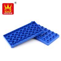 万格积木塑料拼插儿童早教益智玩具积木式拼装散件矮4×8孔D237