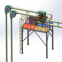 移动式环链盘片提升机 松散颗粒粉末管链输送机