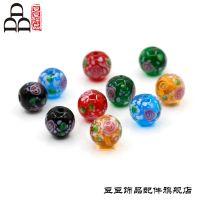 手工diy日式老琉璃散珠饰品配件 12mm琉璃圆珠批发