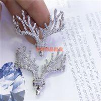 DIY饰品微镶锆石珍珠冬季小鹿长项链吊坠挂件 毛衣链配件