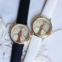 速卖通ebay热销 厂家批发 常青树图案皮带手表 个性时尚中性表