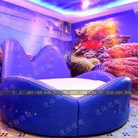 主题情侣酒店床主题壁纸电动情趣床多功能合欢电动床情侣床创意床