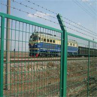 公路框架防护网 浸塑铁路护栏网 钢丝围栏网厂家
