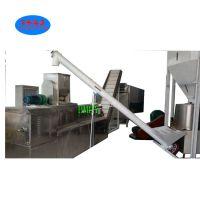 3个工人的狗粮膨化机,济南宠物食品膨化机厂家