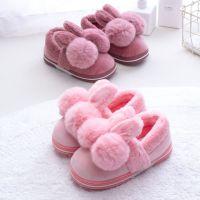 新款儿童棉拖鞋秋冬室内卡通球球保暖女童棉鞋小中童棉拖宝宝拖鞋