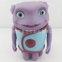 厂家直销疯狂的外星人公仔搪胶PVC注塑儿童塑胶玩具公仔存钱罐