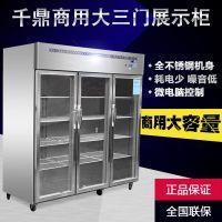 商用厨房设备 超市冷藏展示柜 食品蔬菜保鲜立式冷风凉菜陈列柜