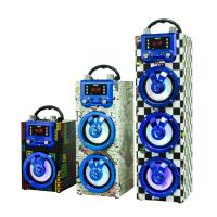 2018新款手提蓝牙无线音箱木质插卡户外电台多功能卡拉OK音箱厂家现货