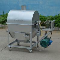 多功能小型燃气炒瓜子机价格 自动滚筒炒锅 东方100公斤花生滚筒炒锅