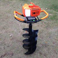 畜牧围栏打坑机 手推柴油钻眼机 普航硬土冻土立柱多用打孔机价位
