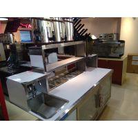 奶茶加盟店设备操作台保鲜工作台? 冷藏柜