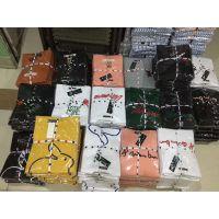 新疆和田哪里有T恤便宜服装批发货源韩版休闲纯棉多款式搭配圆领短袖拼接