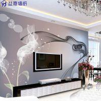 电视背景墙壁纸大型壁纸简约现代客厅无缝墙布卧室3d无纺布墙纸