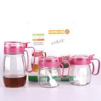 热销玻璃油壶调味罐三件套 厨房礼品套装 玻璃调味酱醋瓶罐3件套
