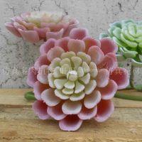厂家直销塑料花工程装饰假植物酝酿景观设计装饰材料植毛大观音莲