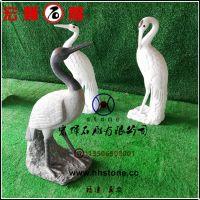 好质量石雕仙鹤工艺品/白色花岗石动物