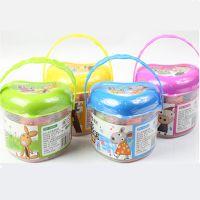 批发品牌文具AKE04029彩泥12色橡皮泥爱心造型带模具儿童玩具