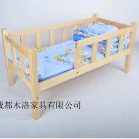 南充/江油幼儿园实木重叠床定做 成都木洛给你不同选择