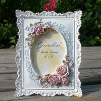 6寸高档复古玫瑰欧式相框相架田园个性韩版粉色婚纱相框像框像架