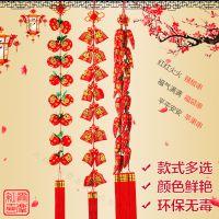 中国结挂件厂家玄关 福袋串苹果辣椒串大号新年春节挂饰客厅大号