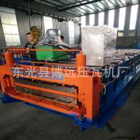 轴承钢辊轧不锈钢材质压瓦机 13排成型840 900双层压瓦机厂家直销