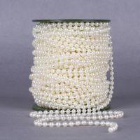 义乌货源手工发饰配件DIY串珠材料 5mm珍珠色棉线珍珠链现货批发